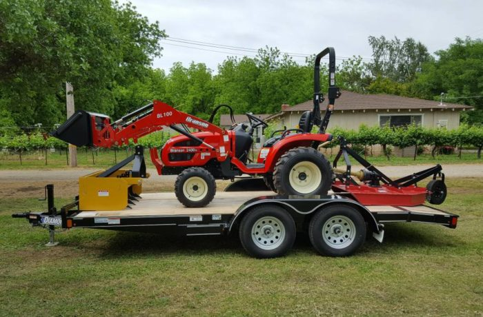 Branson 2400H with Implements & Trailer