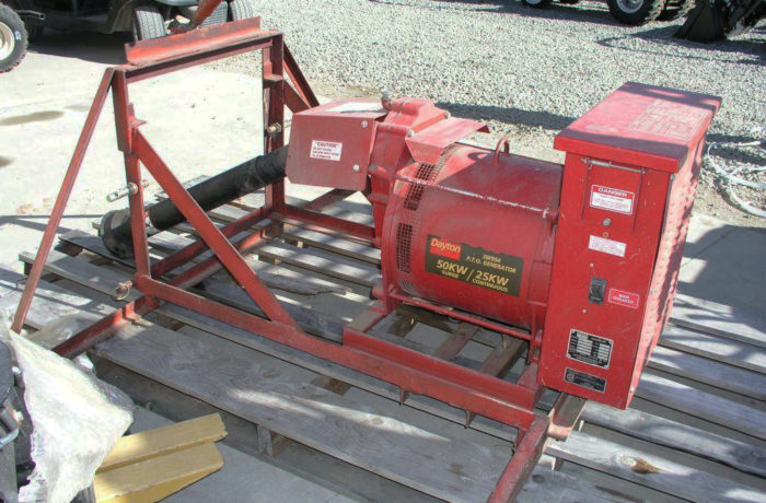 Barely Used Dayton 25 kW PTO-Driven Generator