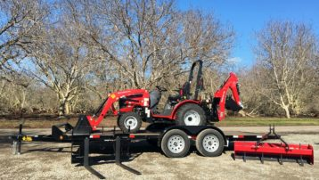 Mahindra Max 26XLT HST Backhoe Package with Trailer!