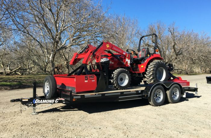 Mahindra 1626 Shuttle Tractor, Loader, 3 Implements, AND Trailer!
