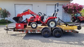 **Branson 2400H Package!  Includes Tractor, Loader, Mower, Box Scraper, AND 16′ Trailer!