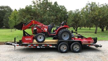 **Mahindra 1626 Package, Includes Box Scraper, Mower, AND 18' Trailer!