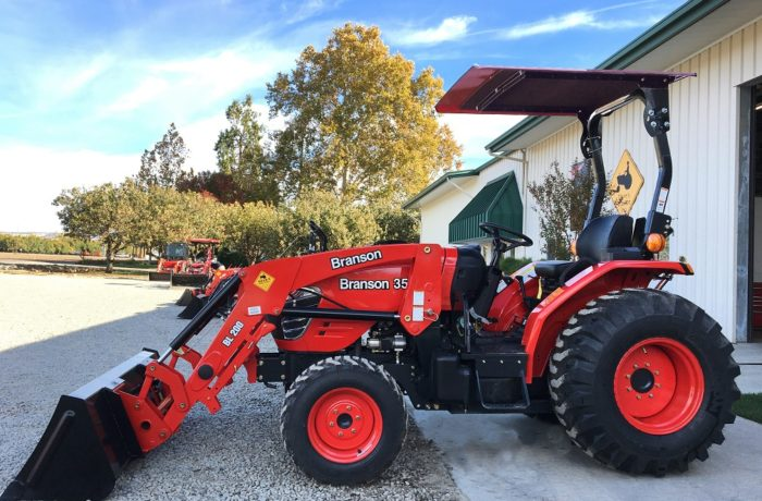 FREE CANOPY with purchase of any new Mahindra or Branson Tractor!