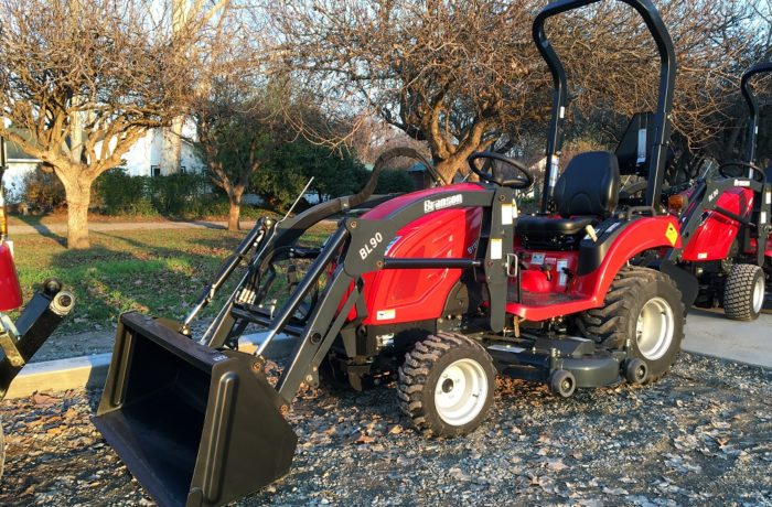 """Scratch & Dent"" Special!  19HP Branson 1905H HST Tractor with Loader AND Mid-Mount Mower! –  SAVE $2,500!"