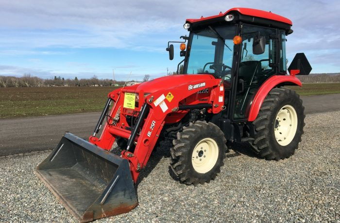 """""""Scratch & Dent"""" Special! 55HP Branson 5220C Shuttle CAB Tractor – SAVE $6,000!"""