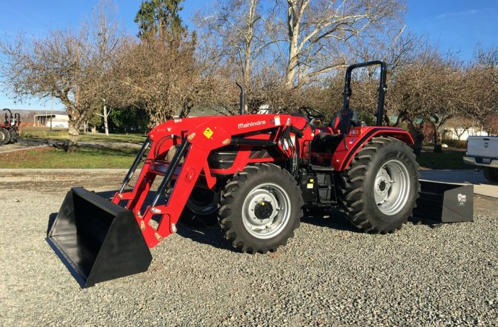 71 HP Mahindra Tractor, Loader, & HD Box Scraper with Hydraulic Rippers!