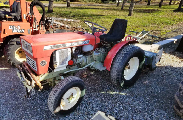 Used Yanmar 1300D 4×4 Tractor with Rototiller
