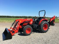 NEW 58HP Branson 5835R Power Shuttle Tractor with Loader & Backhoe – Includes Thumb!