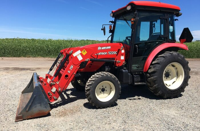 """""""Scratch & Dent"""" Special! 55HP Branson 5220C Shuttle CAB Tractor – PRICE DROPPED BY ADDITIONAL $2,000!"""