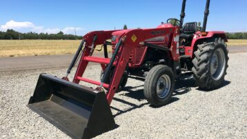Used 55 HP Mahindra 5525 Tractor with Loader  –  ONLY $13,950!
