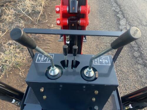 Branson 2505 TLB Backhoe controls