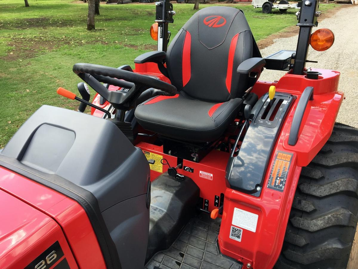 Mahindra 1626 Package, Includes Mower, Box Scraper, AND 18